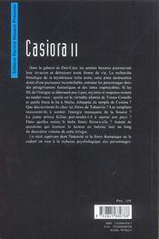 Casiora t.2 - 4ème de couverture - Format classique