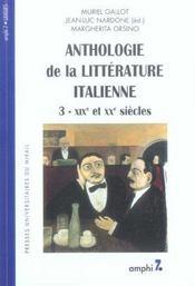 Anthologie de la litterature italienne tome 3 (2eme edition). xixe et xxe siecle - Intérieur - Format classique