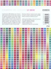 L'harmonie des couleurs, le guide ; 1400 combinaisons chromatiques - 4ème de couverture - Format classique
