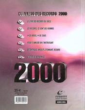 Le Livre Guiness Des Records 2000 - 4ème de couverture - Format classique