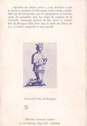 Dernier Duc De Bretagne - 4ème de couverture - Format classique