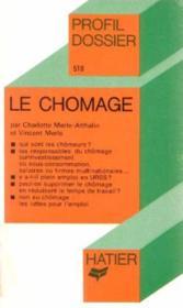Le chomage - Couverture - Format classique