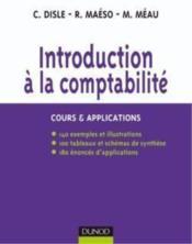 Introduction à la comptabilité ; cours & applications - Couverture - Format classique