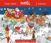 Poster géant à colorier ; Noël - Couverture - Format classique