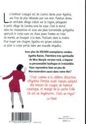 Agatha Raisin enquête T.12 ; crime et déluge - 4ème de couverture - Format classique