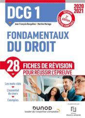 DCG 1 ; fondamentaux du droit ; 28 fiches de révision pour réussir l'épreuve (édition 2020/2021) - Couverture - Format classique