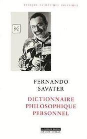 Dictionnaire philosophique personnel - Couverture - Format classique
