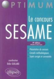 Le concours sésame (4e édition) - Couverture - Format classique