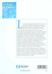 Urologie Et Cancer - 4ème de couverture - Format classique
