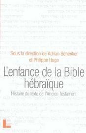 L'enfance de la bible hebraique - Intérieur - Format classique