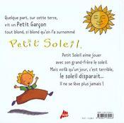 Petit Soleil - 4ème de couverture - Format classique
