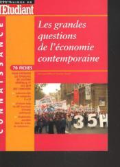 Les grandes questions de l'economie contemporaine - Couverture - Format classique