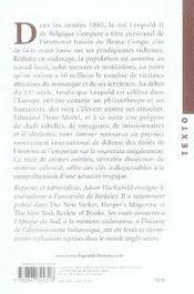 Les fantômes du roi Léopold ; la terreur coloniale dans l'état du Congo, 1884-1908 - 4ème de couverture - Format classique