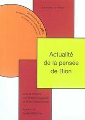 Actualité de la penseé de bion - Intérieur - Format classique