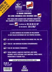 Livre Guinness Des Records 2001 - 4ème de couverture - Format classique
