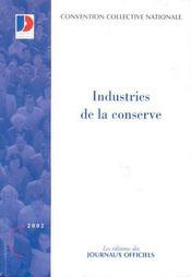 Industries de la conserve - Intérieur - Format classique