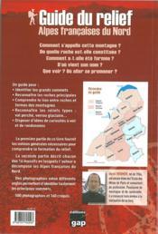 Guide du relief alpes francaises du nord - 3ed - 4ème de couverture - Format classique