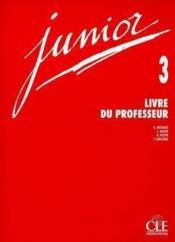 Junior ; niveau 3 ; livre du professeur - Couverture - Format classique