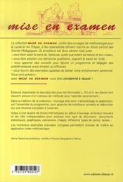 L'étude de documents en histoire-géographie au baccalauréat - 4ème de couverture - Format classique