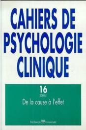 Cahiers De Psychologie Clinique N.16 - Couverture - Format classique