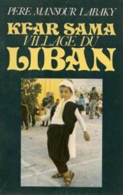 Kfar Sama Village Liban - Couverture - Format classique