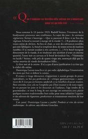 Le livre noir de la cuisine - 4ème de couverture - Format classique