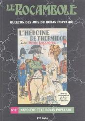 Revue Rocambole N.27 ; Napoléon Dans Le Roman Populaire - Couverture - Format classique