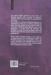 Bordeaux blues - 4ème de couverture - Format classique
