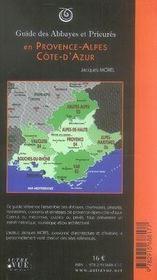 Guide des abbayes et prieurés en Provence Alpes Côte d'Azur - 4ème de couverture - Format classique