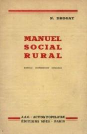 Manuel social rural - Couverture - Format classique
