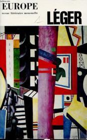 EUROPE N °508-509 : Fernand LEGER - Couverture - Format classique