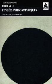Pensées philosophiques - Intérieur - Format classique
