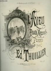 L'Aveu - Polka Mazurka Pour Piano. - Couverture - Format classique
