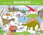 Poster géant à colorier ; dinosaures - Couverture - Format classique