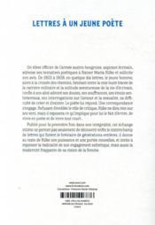 Lettres à un jeune poète - 4ème de couverture - Format classique