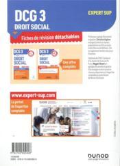 DCG 3 ; droit social ; 27 fiches de révision pour réussir l'épreuve (édition 2020/2021) - 4ème de couverture - Format classique