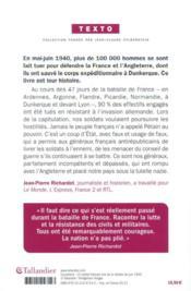 100 000 morts oubliés : la bataille de France, 10 mai - 25 juin 1940 - 4ème de couverture - Format classique