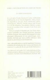 Les frères Karamazov t.1 - 4ème de couverture - Format classique