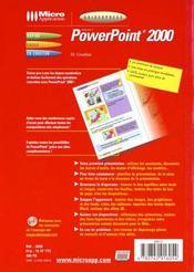 Powerpoint 2000 - 4ème de couverture - Format classique