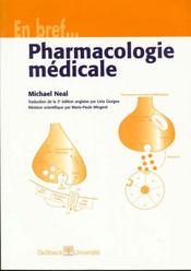 Pharmacologie Medicale En Bref - Intérieur - Format classique