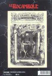 Revue Rocambole N.28 ; Relectures D'Eugène Sue - 4ème de couverture - Format classique