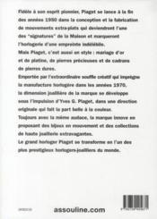 Piaget - 4ème de couverture - Format classique