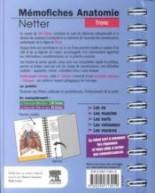 Mémofiches anatomie Netter ; tronc (3e édition) - 4ème de couverture - Format classique