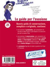 GUIDES DE CONVERSATION ; il francese in tasca - 4ème de couverture - Format classique