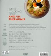 Batch cooking libre ; au thermomix - 4ème de couverture - Format classique