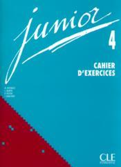 Junior ; niveau 4 ; cahier d'exercices - Couverture - Format classique