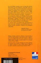 La politique culturelle en debat - anthologie, 1955-2005 - 4ème de couverture - Format classique