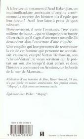Cheval Vartan - 4ème de couverture - Format classique
