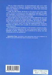 Les Bienfaits De La Thalassotherapie - 4ème de couverture - Format classique