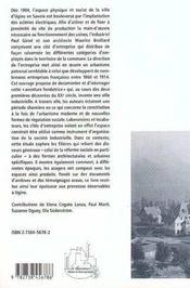 L'Industriel, L'Architecte Et Le Phalanstere - 4ème de couverture - Format classique